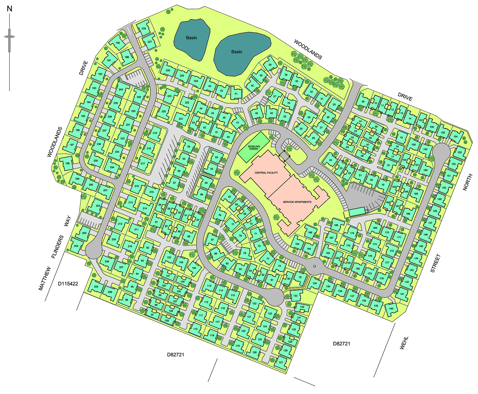 Woodlands Grove Site Plan